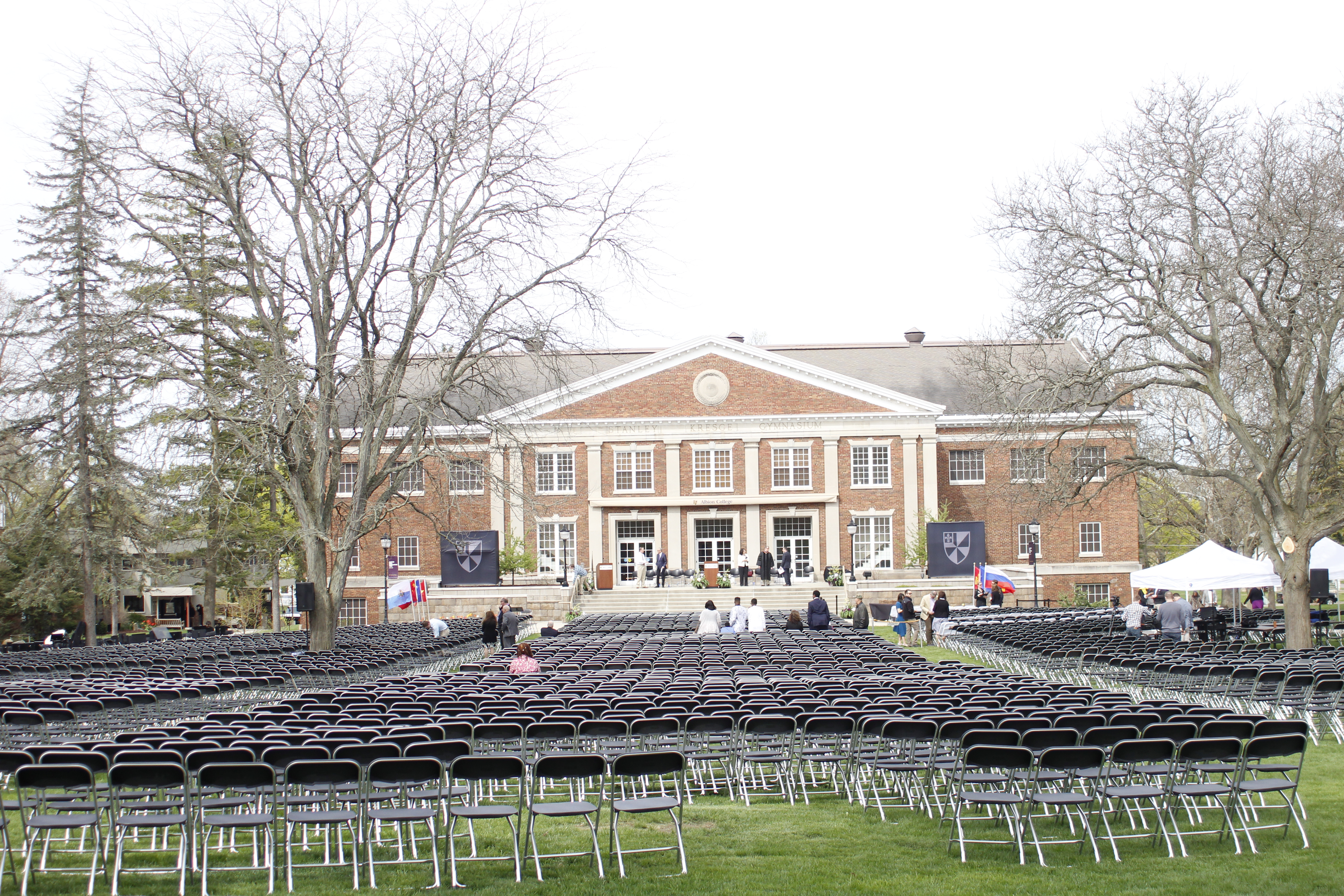A livestream of the commencement proceedings for the Albion College graduating class of 2019
