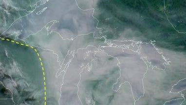 Canadian wildfires make for hazy Michigan skies