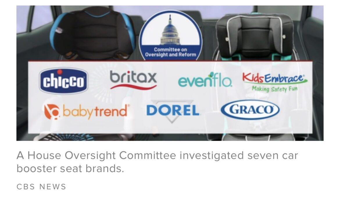 Congressional probe raises safety concerns about booster seats