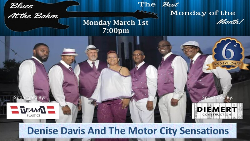 Blues at the Bohm Anniversary Show with Denise Davis and the Motor City Sensations
