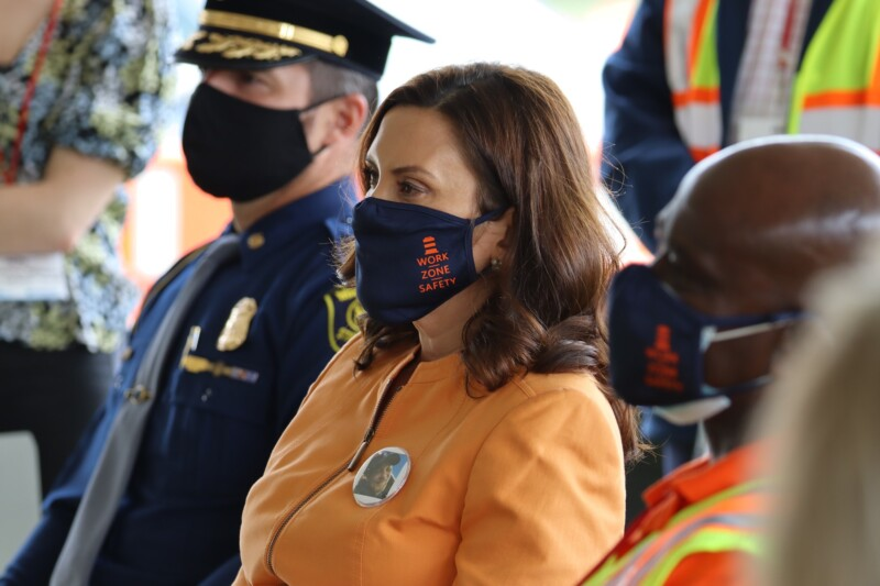 Gov. Whitmer Joins National Work Zone Safety Awareness Week Event in Clinton Township, Visits M-59 Rebuilding Michigan Construction Site