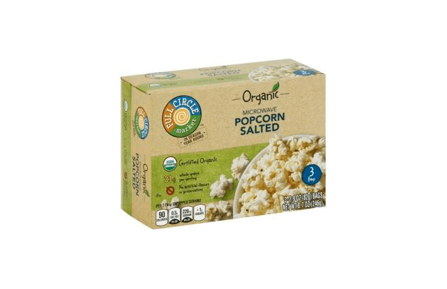 FDA Recall of Full Circle Organic Microwave Popcorn Salted, UPC 36800-40611 because it may contain undeclared milk products.