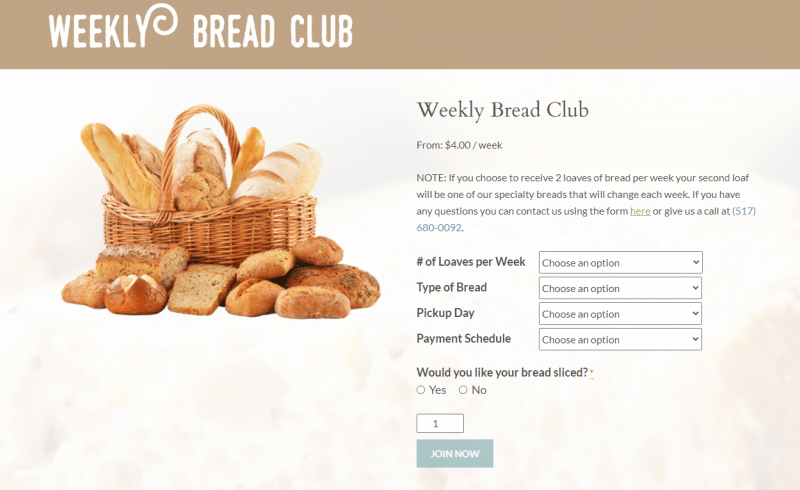 Foundry Bakehouse and Deli's Weekly Bread Club