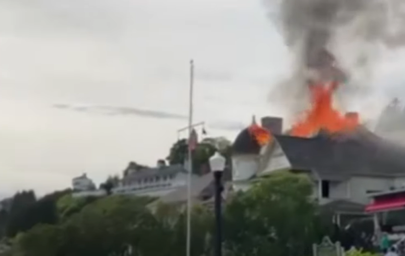Fire damages historical Brigadoon Cottage located on Mackinac Island