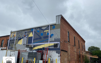Albion Malleable Brewing Company, Mural